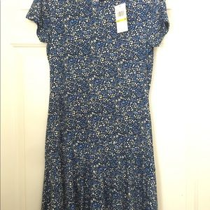 Michael Kors Dresses - Michael Kors Blue Flower Pattern Dress